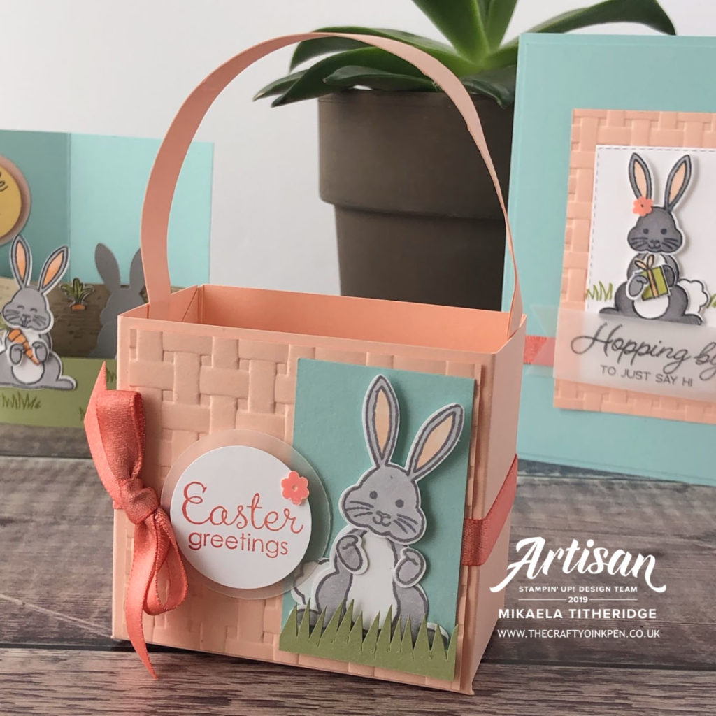 Best Bunny for Easter Cards. Curved Card by Artisan Design Team Member 2019, Mikaela Titheridge, UK Independent Stampin' Up! Demonstrator, The Crafty oINK Pen. Supplies available through my online store 24/7