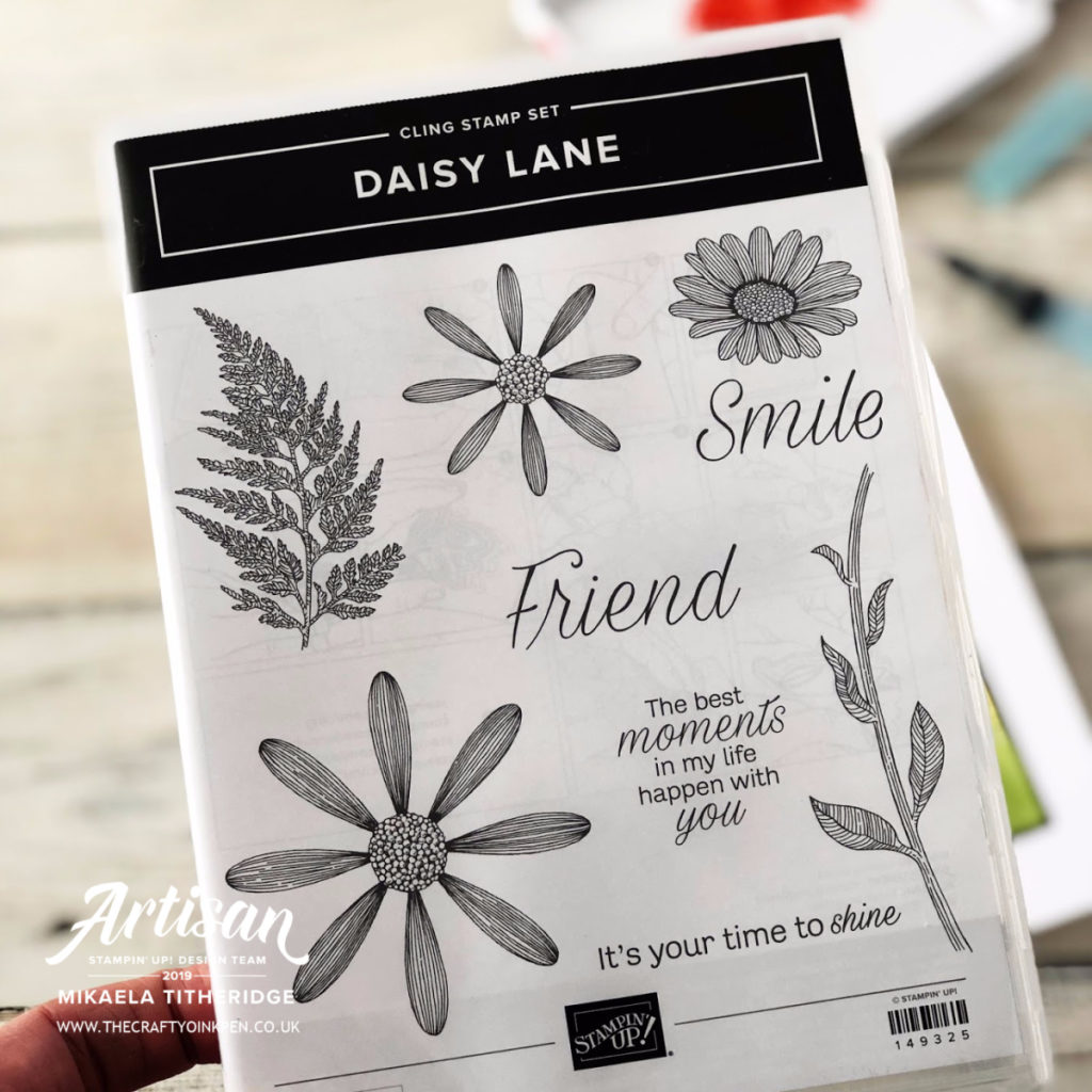 Daisy Lane All Attendee Giveaway at OnStage 2019. Watercolour background by Artisan Design Team Member 2019, Mikaela Titheridge, UK Independent Stampin' Up! Demonstrator, The Crafty oINK Pen. Supplies available through my online store 24/7