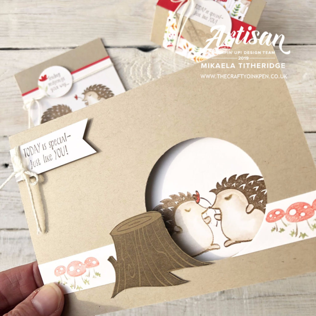 Hedgehugs Papercraft Class by Artisan Design Team Member 2019, Mikaela Titheridge, UK Independent Stampin' Up! Demonstrator, The Crafty oINK Pen. Supplies available through my online store 24/7