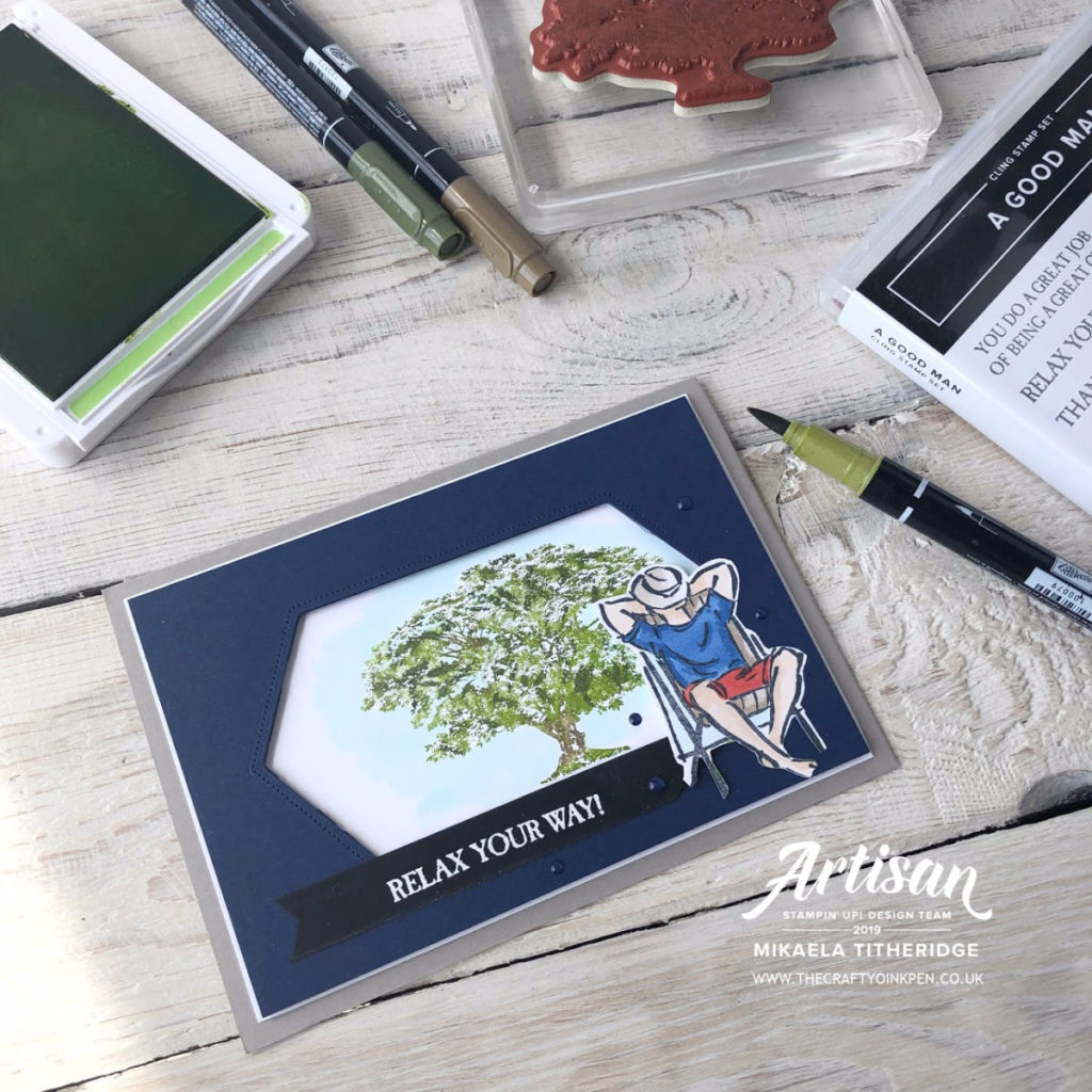 A Good Man meets Rooted in Nature for the Stampin' Creative Masculine themed Blog Hop by Artisan Design Team Member 2019, Mikaela Titheridge, UK Independent Stampin' Up! Demonstrator, The Crafty oINK Pen. Supplies available through my online store 24/7