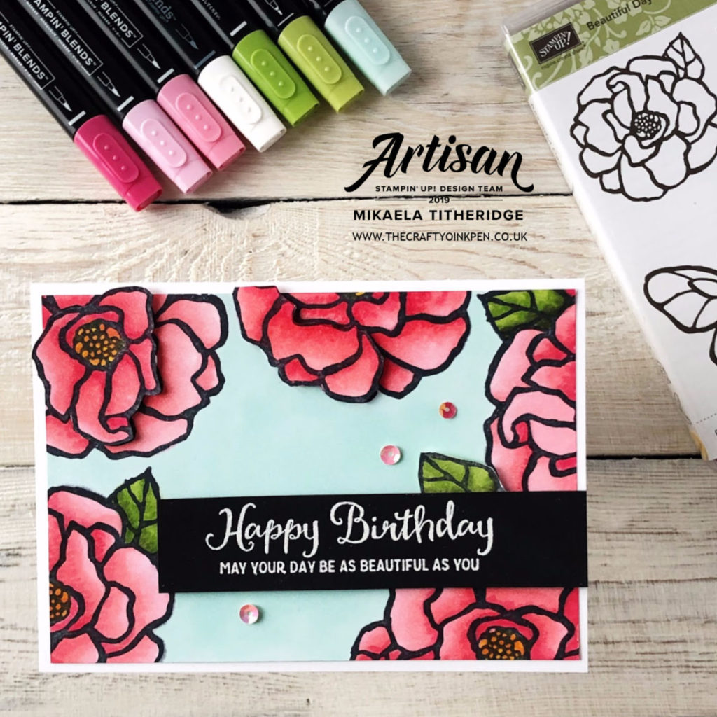 Let's Get Hopping with a Colouring Technique of Blends and a Beautiful Day by Artisan Design Team Member 2019, Mikaela Titheridge, UK Independent Stampin' Up! Demonstrator, The Crafty oINK Pen. Supplies available through my online store 24/7