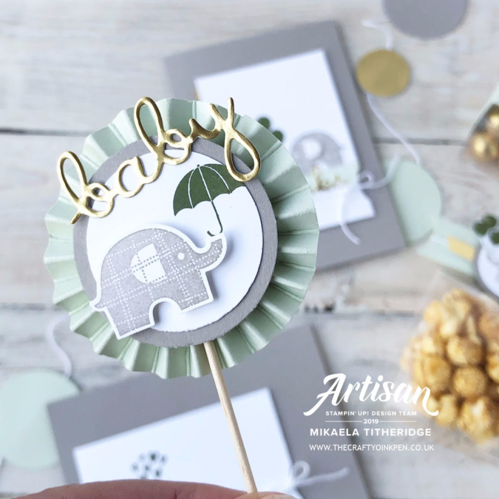Little Elephant Carry Over Event for a Baby Shower by Artisan Design Team Member 2019, Mikaela Titheridge, UK Independent Stampin' Up! Demonstrator, The Crafty oINK Pen. Supplies available through my online store 24/7