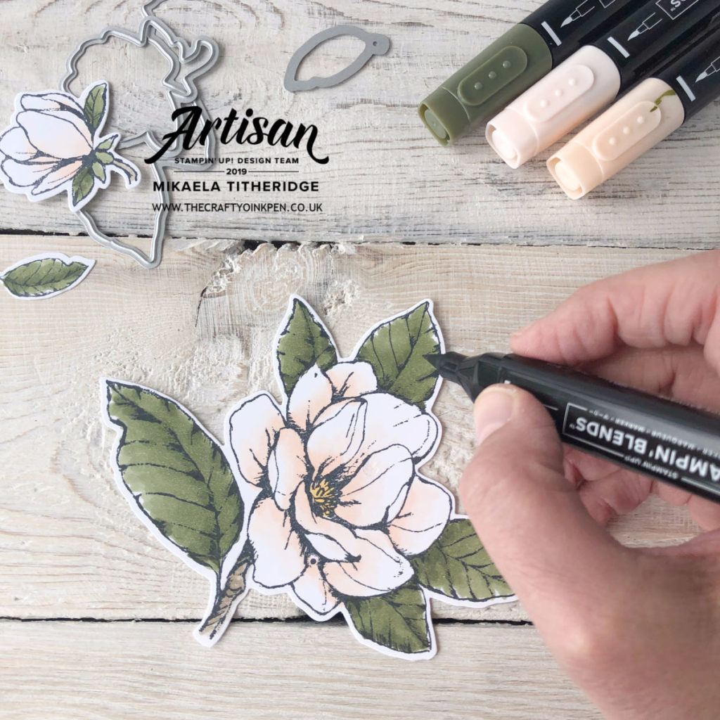 Good Morning Magnolia Sneak Peek from the new Annual Catalogue 2019-2020 (launching 4th June) by Artisan Design Team Member 2019, Mikaela Titheridge, UK Independent Stampin' Up! Demonstrator, The Crafty oINK Pen. Supplies available through my online store 24/7