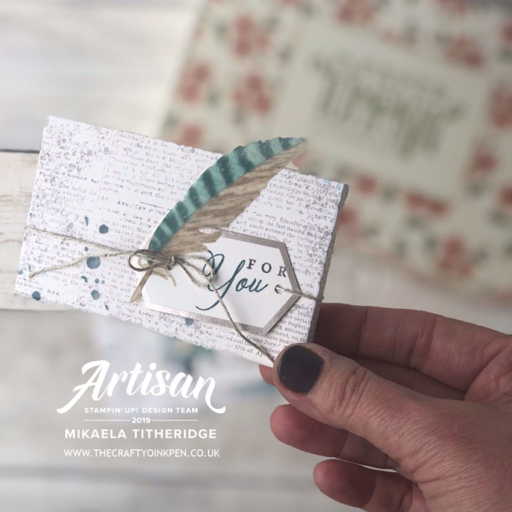 A Paper Pumpkin Thing with an Altered Box and Card by Artisan Design Team Member 2019, Mikaela Titheridge, UK Independent Stampin' Up! Demonstrator, The Crafty oINK Pen. Supplies available through my online store 24/7