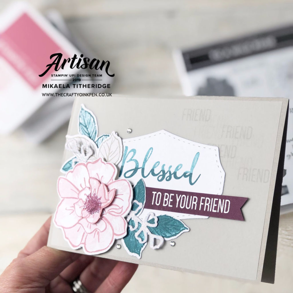 To A Wild Rose Stamp Set from the new Annual Catalogue 2019-2020 by Artisan Design Team Member 2019, Mikaela Titheridge, UK Independent Stampin' Up! Demonstrator, The Crafty oINK Pen. Supplies available through my online store 24/7