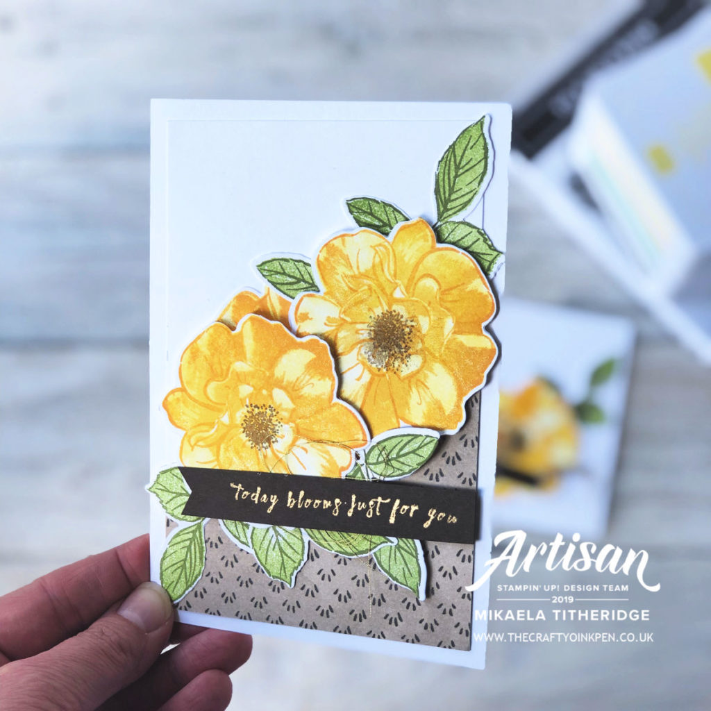 To A Wild Rose for the Greek Isles Achievers Blog Hop of Sneak Peeks, May 2019 by Artisan Design Team Member 2019, Mikaela Titheridge, UK Independent Stampin' Up! Demonstrator, The Crafty oINK Pen. Supplies available through my online store 24/7