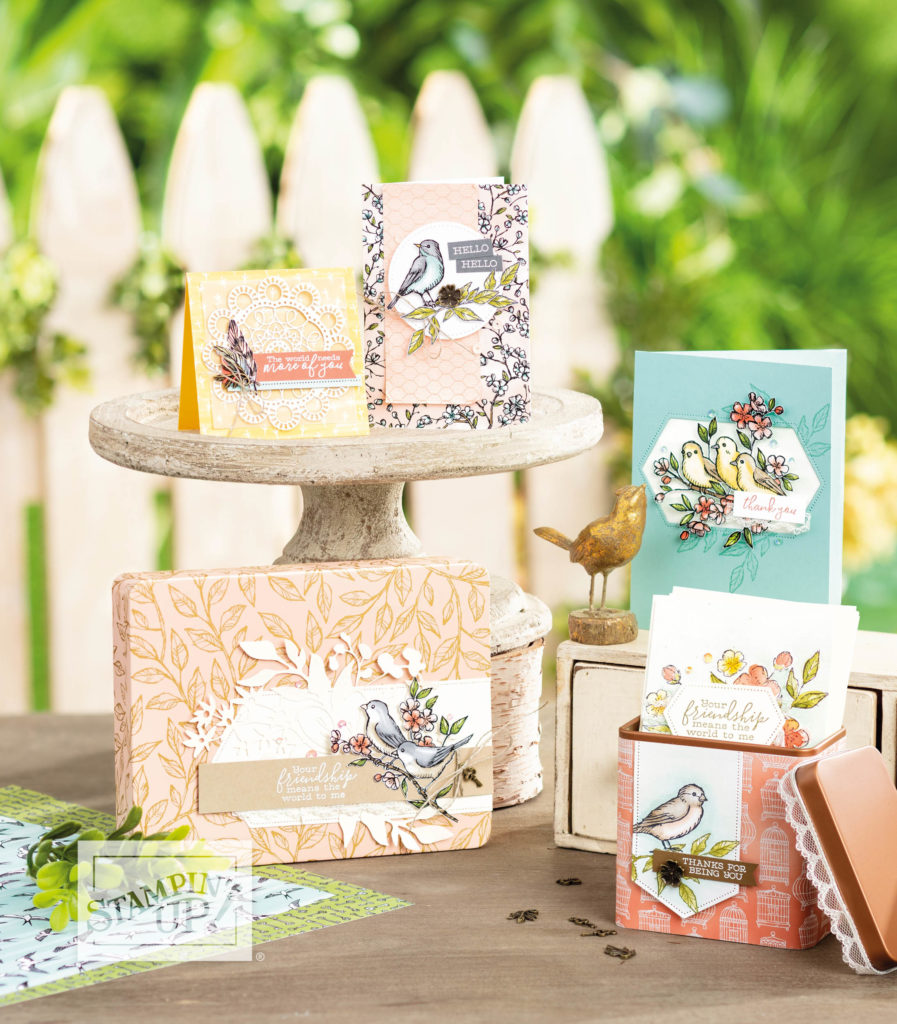 Free as a Bird and Bird Ballard Laser Cut cards. Products available from Artisan Design Team Member 2019, Mikaela Titheridge, UK Independent Stampin' Up! Demonstrator, The Crafty oINK Pen. Supplies available through my online store 24/7