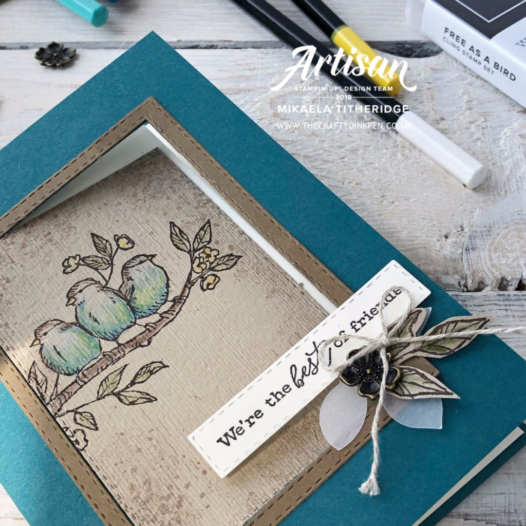 Fancy Fold VIDEO TUTORIAL Free as a Bird Facebook Live Swing Card by Artisan Design Team Member 2019, Mikaela Titheridge, UK Independent Stampin' Up! Demonstrator, The Crafty oINK Pen. Supplies available through my online store 24/7
