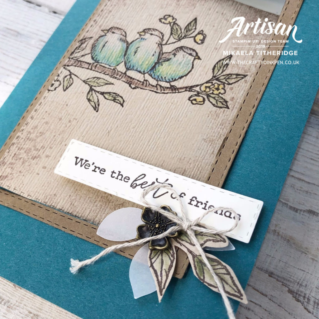 Free as a Bird Fancy Fold Swing Card using New Products from the Annual Catalogue 2019-2020 by Artisan Design Team Member 2019, Mikaela Titheridge, UK Independent Stampin' Up! Demonstrator, The Crafty oINK Pen. Supplies available through my online store 24/7