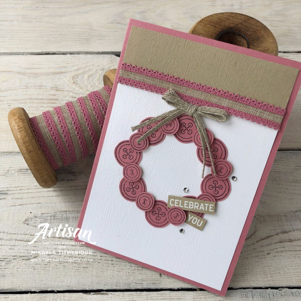 It Started with Art, Rococo Rose In Colours Card Set with Linen Ribbon by Artisan Design Team Member 2019, Mikaela Titheridge, UK Independent Stampin' Up! Demonstrator, The Crafty oINK Pen. Supplies available through my online store 24/7
