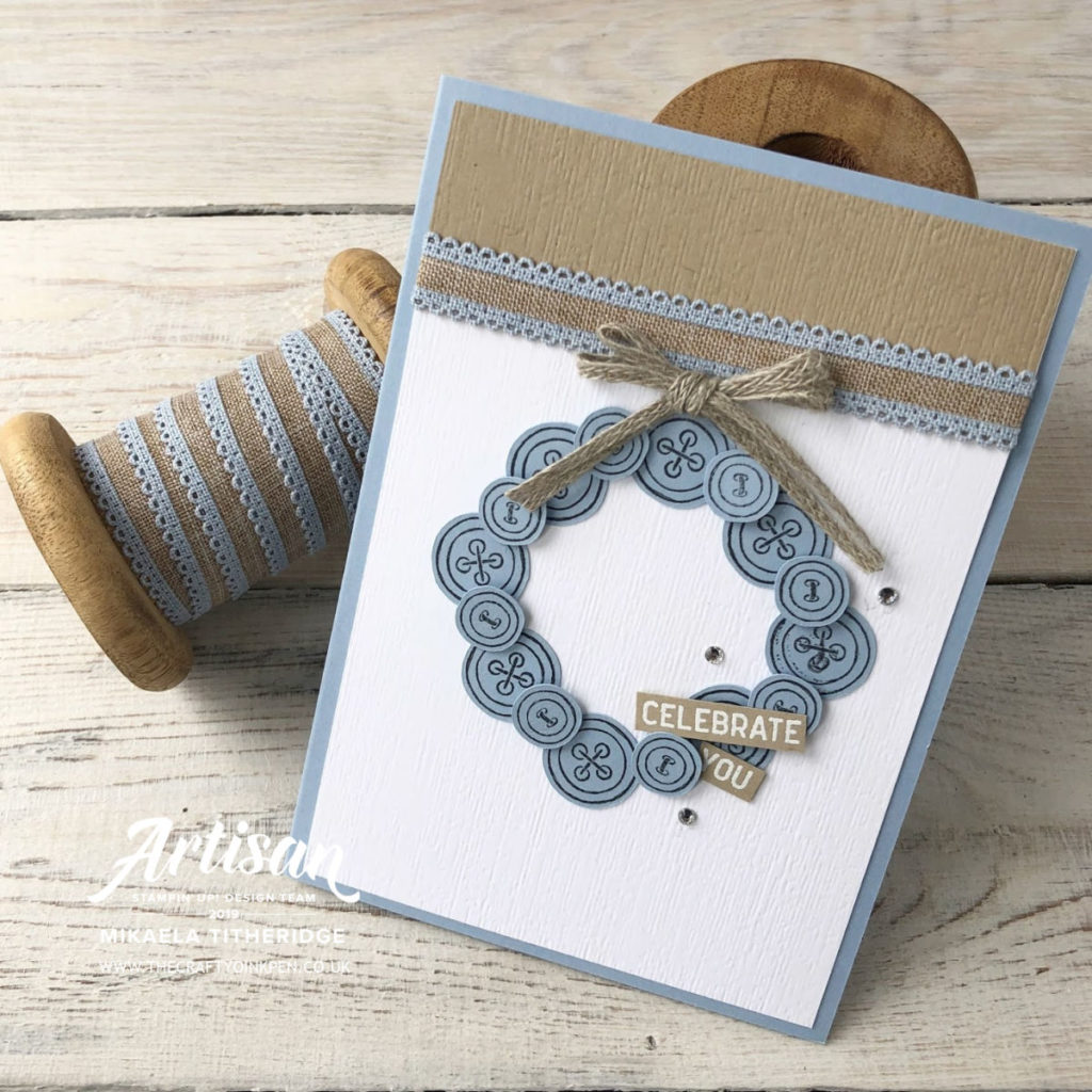 It Started with Art, Seaside Spray In Colours Card Set with Linen Ribbon by Artisan Design Team Member 2019, Mikaela Titheridge, UK Independent Stampin' Up! Demonstrator, The Crafty oINK Pen. Supplies available through my online store 24/7