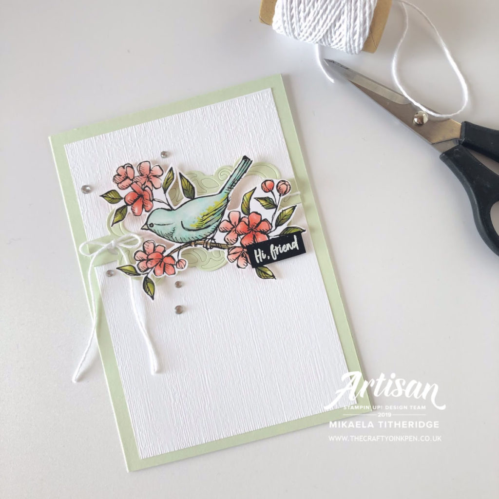 Let's Get Blogging #22 Words of Encouragement using Band Around and Bird Ballard by Artisan Design Team Member 2019, Mikaela Titheridge, UK Independent Stampin' Up! Demonstrator, The Crafty oINK Pen. Supplies available through my online store 24/7