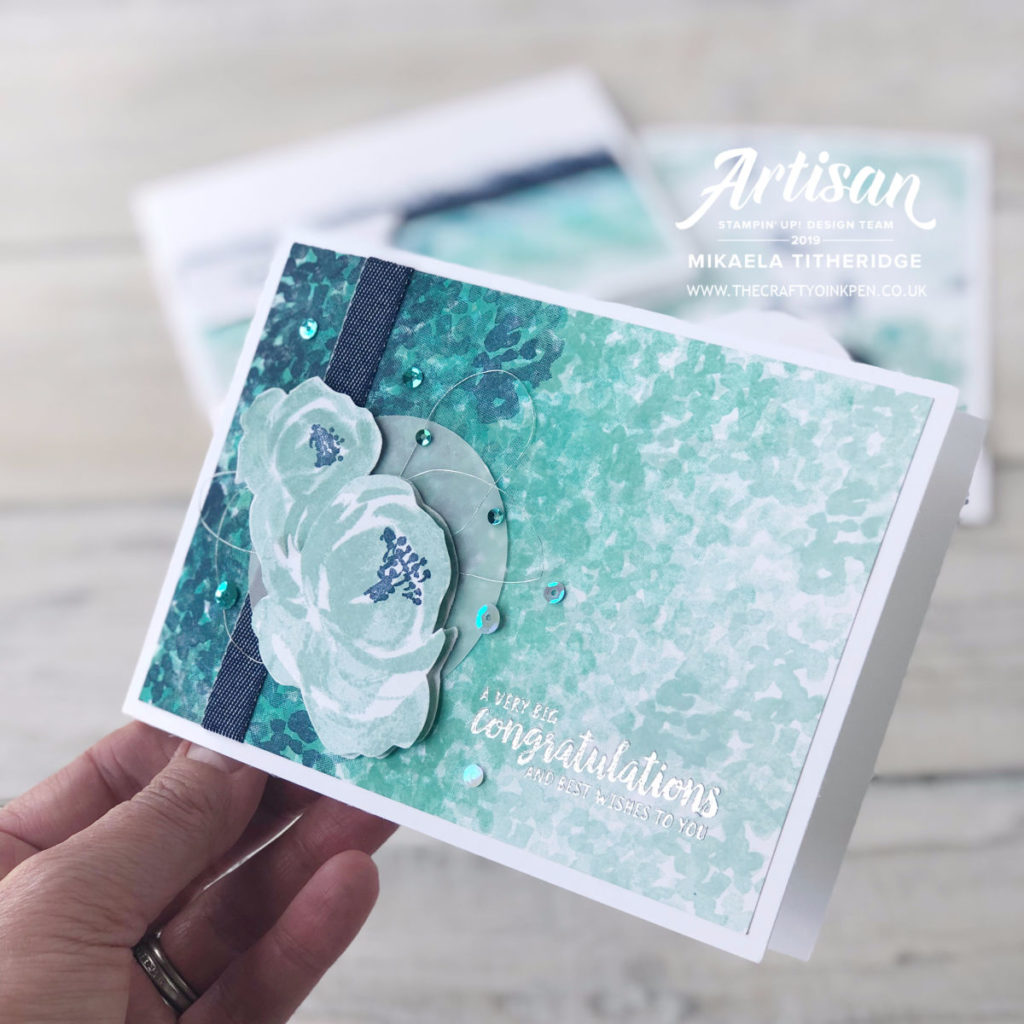 A Beautiful Friendship has Got your Back. Creation Station Blog Hop with handmade backgrounds by Artisan Design Team Member 2019, Mikaela Titheridge, UK Independent Stampin' Up! Demonstrator, The Crafty oINK Pen. Supplies available through my online store 24/7
