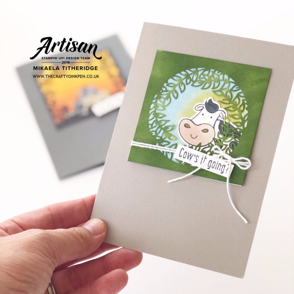 Over the Moon with some Animal Antics for the Stampin' Creative Blog hop by Artisan Design Team Member 2019, Mikaela Titheridge, UK Independent Stampin' Up! Demonstrator, The Crafty oINK Pen. Supplies available through my online store 24/7