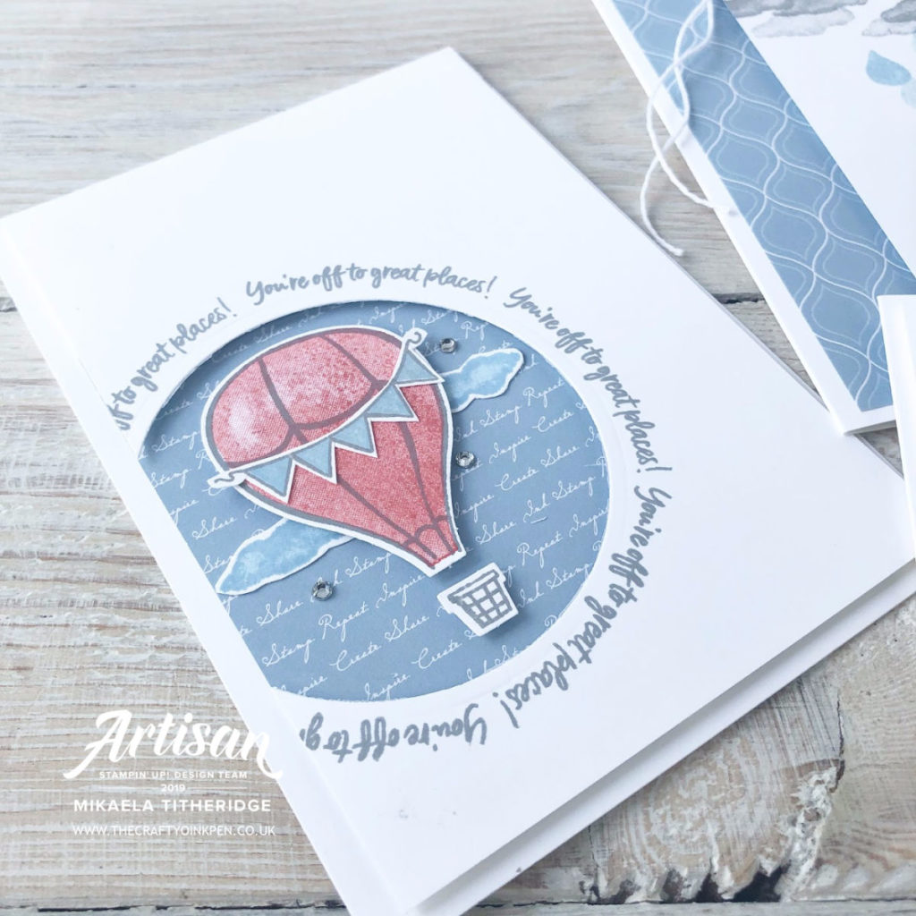 Above the Clouds Blog Hop by Artisan Design Team Member 2019, Mikaela Titheridge, UK Independent Stampin' Up! Demonstrator, The Crafty oINK Pen. Supplies available through my online store 24/7