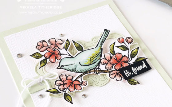 Bird Ballard meets Band Together for some Words of Encouragement by Artisan Design Team Member 2019, Mikaela Titheridge, UK Independent Stampin' Up! Demonstrator, The Crafty oINK Pen. Supplies available through my online store 24/7
