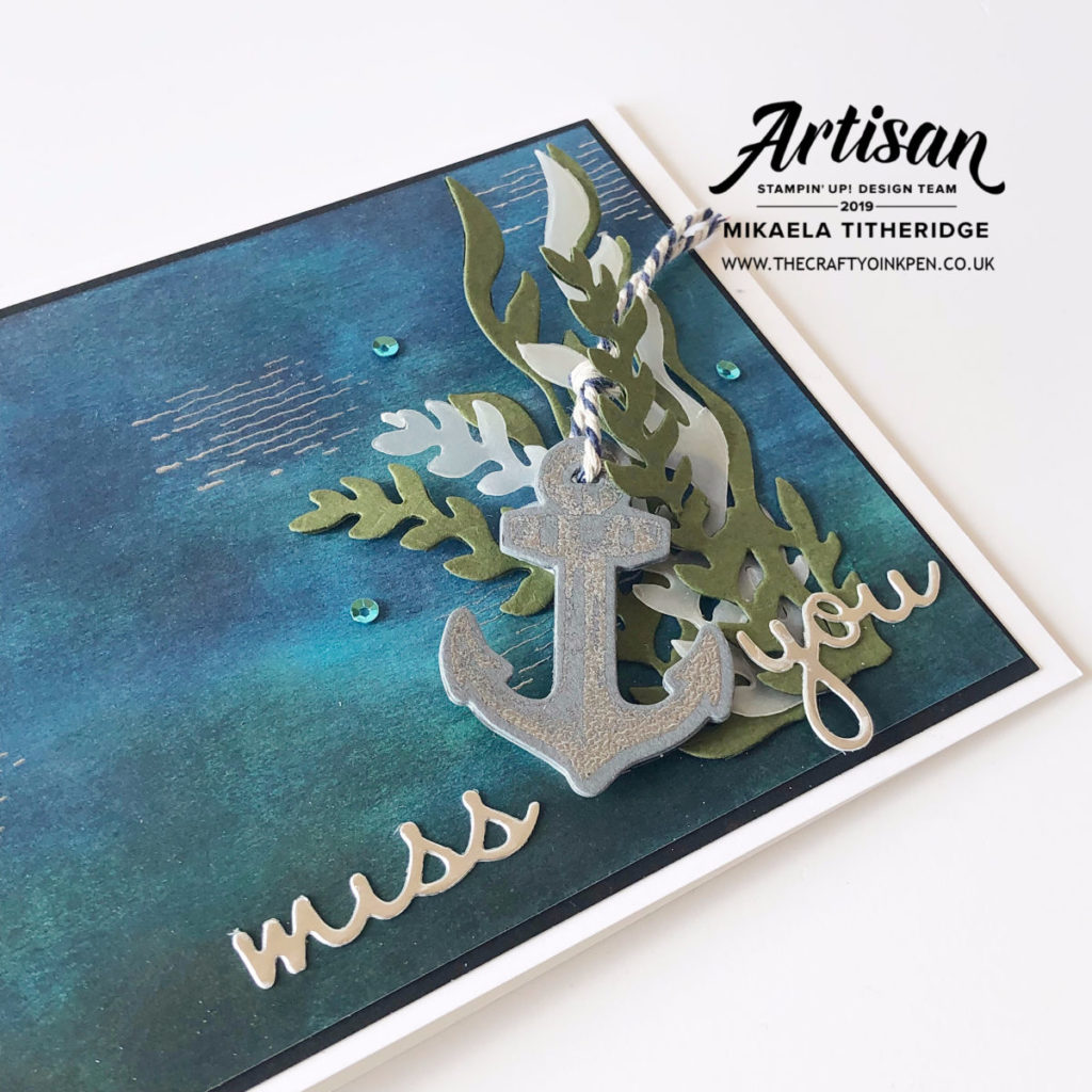Sailing Home with Well Said for a Masculine Card by Artisan Design Team Member 2019, Mikaela Titheridge, UK Independent Stampin' Up! Demonstrator, The Crafty oINK Pen. Supplies available through my online store 24/7
