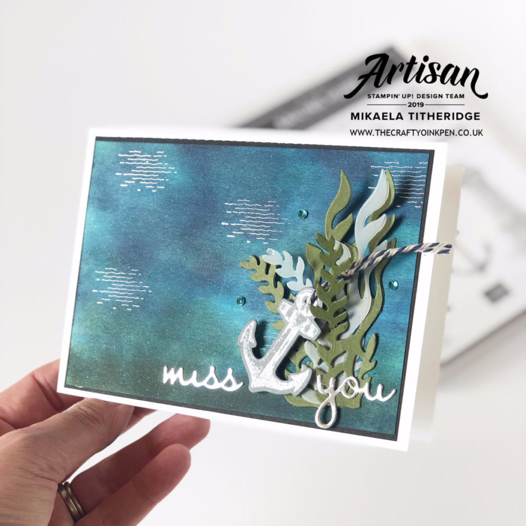 Sailing Home for a Masculine Card by Artisan Design Team Member 2019, Mikaela Titheridge, UK Independent Stampin' Up! Demonstrator, The Crafty oINK Pen. Supplies available through my online store 24/7