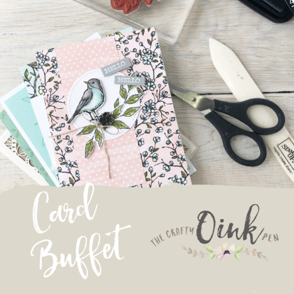 Card Buffet offering cards for all occasions available in Huntingdon, Cambridgeshire by Artisan Design Team Member 2019, Mikaela Titheridge, UK Independent Stampin' Up! Demonstrator, The Crafty oINK Pen. Supplies available through my online store 24/7
