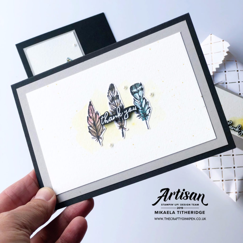You Can Create it with July's Bird Ballad Kit pack by Artisan Design Team Member 2019, Mikaela Titheridge, UK Independent Stampin' Up! Demonstrator, The Crafty oINK Pen. Supplies available through my online store 24/7