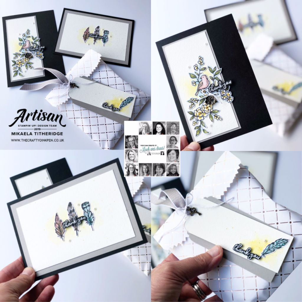 You Can Create It with Bird Ballad by Artisan Design Team Member 2019, Mikaela Titheridge, UK Independent Stampin' Up! Demonstrator, The Crafty oINK Pen. Supplies available through my online store 24/7