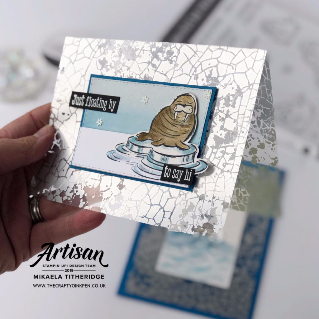 Stamping Sunday Blog Hop using Mercury Glass Acetate and I team it with We'll Walrus be friends by Artisan Design Team Member 2019, Mikaela Titheridge, UK Independent Stampin' Up! Demonstrator, The Crafty oINK Pen. Supplies available through my online store 24/7