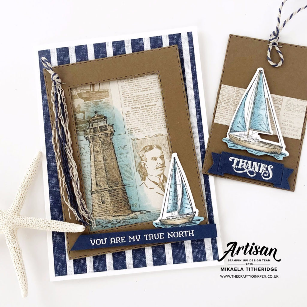 You Can Create it Kit for August 2019 using Sailing Home Suite by Artisan Design Team Member 2019, Mikaela Titheridge, UK Independent Stampin' Up! Demonstrator, The Crafty oINK Pen. Supplies available through my online store 24/7