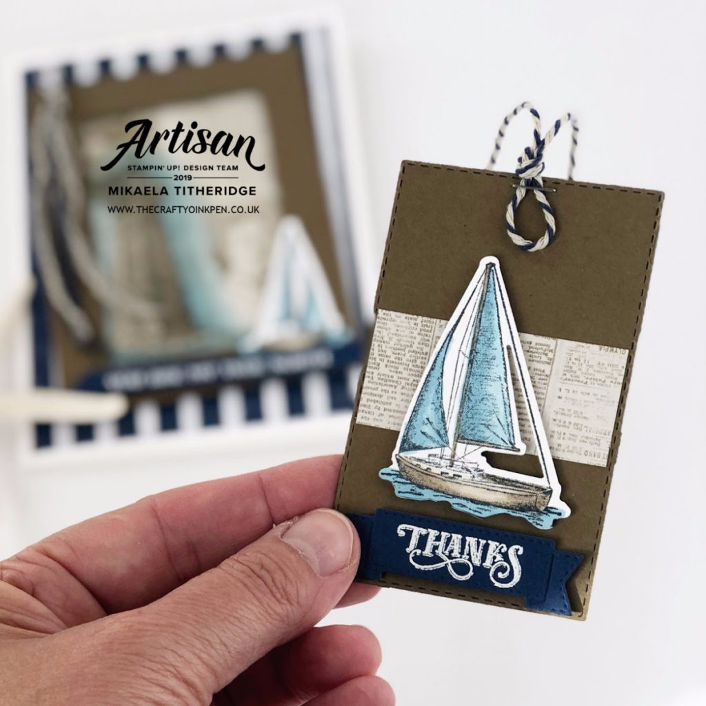 You Can Create it August Kit 2019 using Sailing Home by Artisan Design Team Member 2019, Mikaela Titheridge, UK Independent Stampin' Up! Demonstrator, The Crafty oINK Pen. Supplies available through my online store 24/7