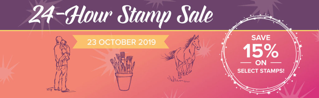 24 Hour Sale on 23rd October. Shop with Artisan Design Team Member 2019, Mikaela Titheridge, UK Independent Stampin' Up! Demonstrator, The Crafty oINK Pen. Supplies available through my online store 24/7