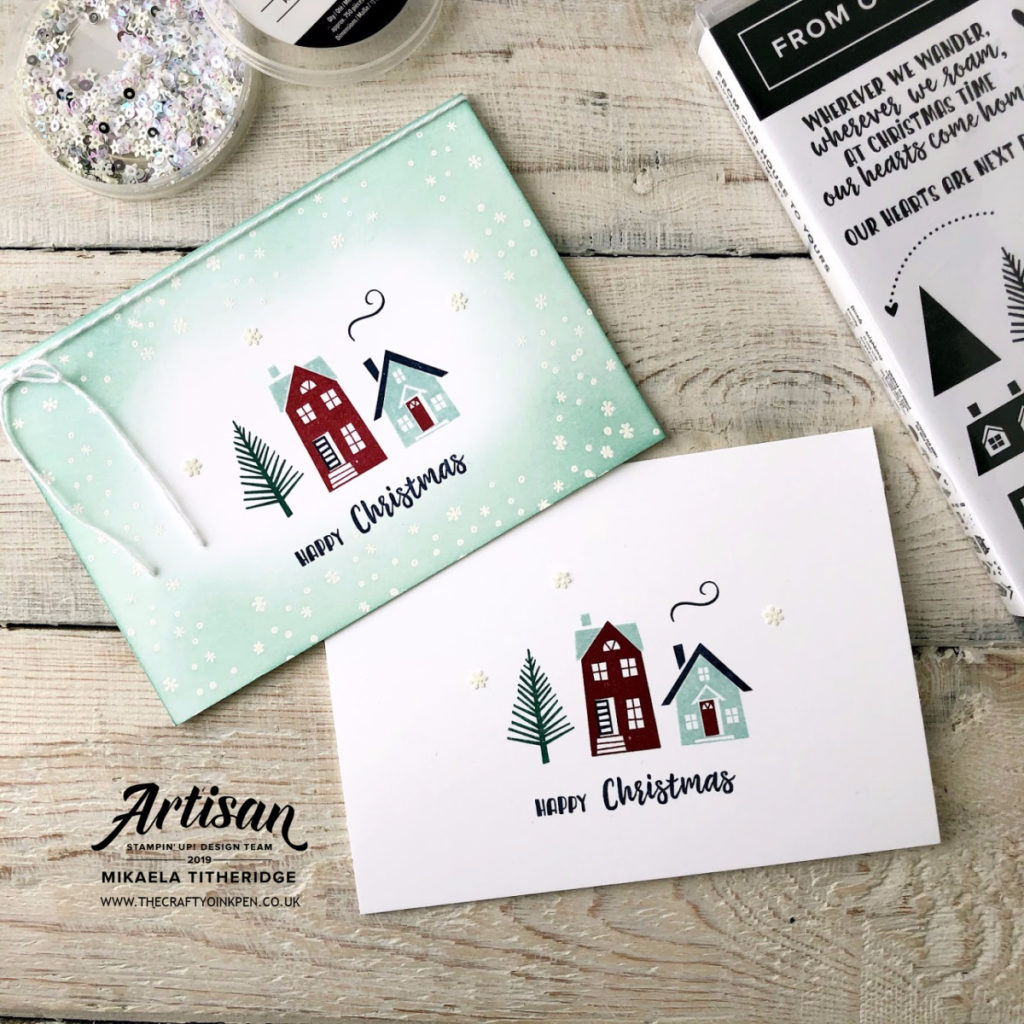 From our house to yours, Single Layer Card for the Let's Get Hopping #25 Hop by Artisan Design Team Member 2019, Mikaela Titheridge, UK Independent Stampin' Up! Demonstrator, The Crafty oINK Pen. Supplies available through my online store 24/7