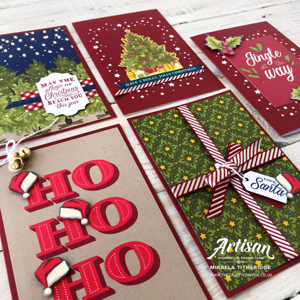 Night Before Christmas Memories & More Card Pack and Envelopes by Artisan Design Team Member 2019, Mikaela Titheridge, UK Independent Stampin' Up! Demonstrator, The Crafty oINK Pen. Supplies available through my online store 24/7