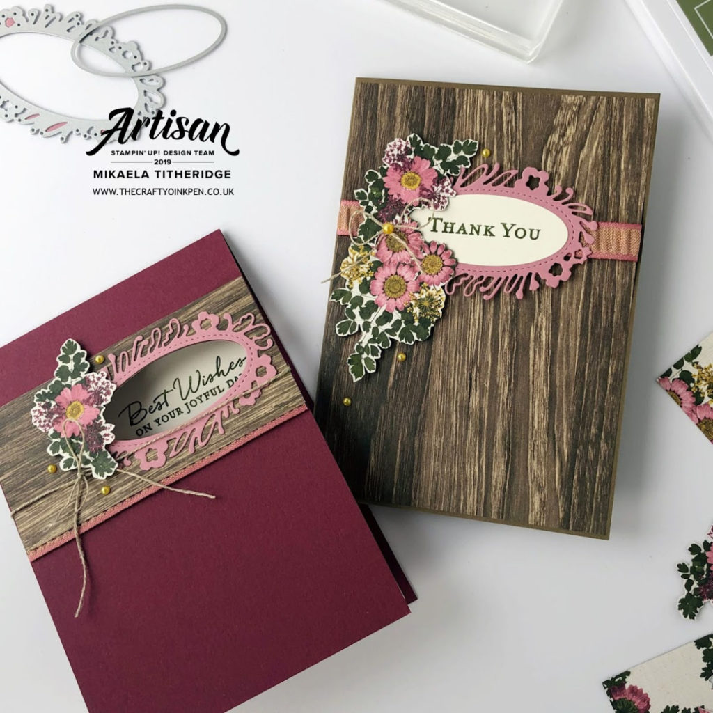 Pressed Petals You Can Create it Papercraft Kit pack for September 2019. Cards by Artisan Design Team Member 2019, Mikaela Titheridge, UK Independent Stampin' Up! Demonstrator, The Crafty oINK Pen. Supplies available through my online store 24/7