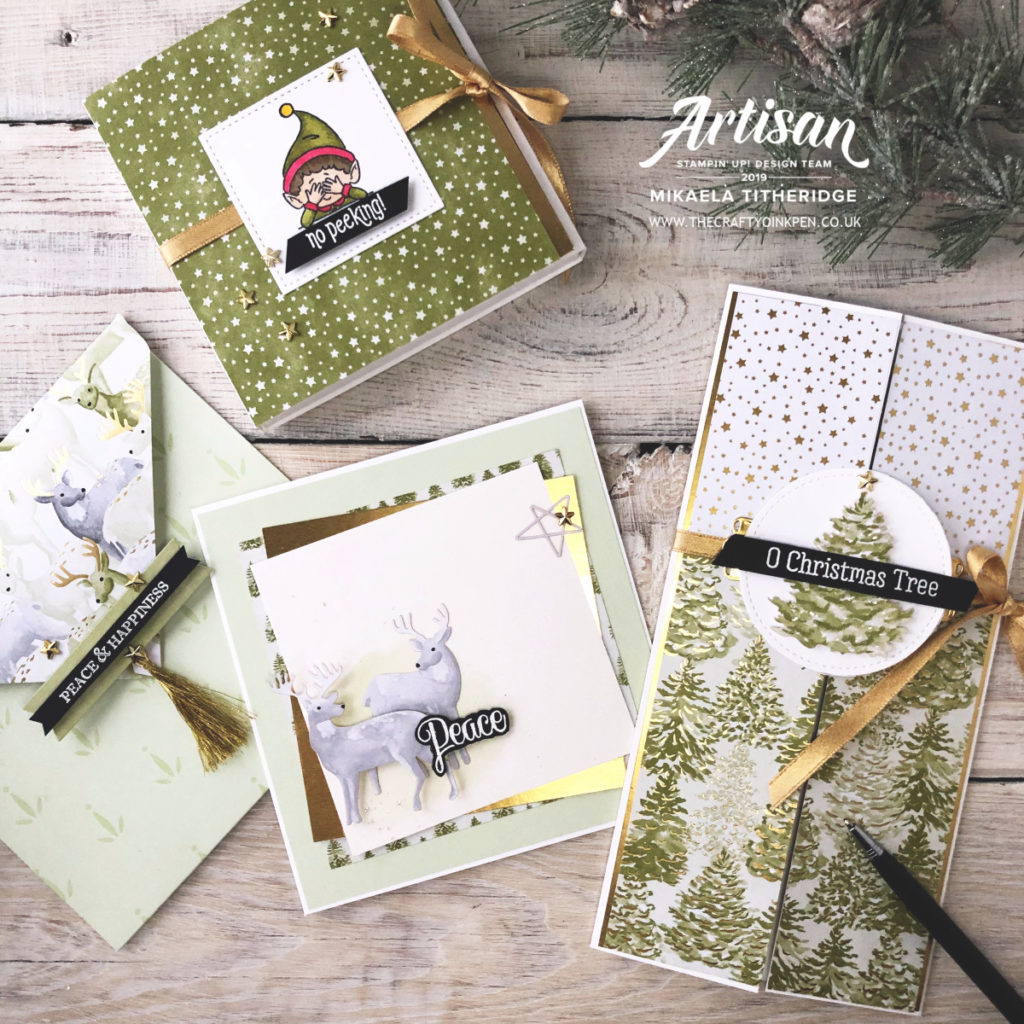 Most Wonderful Time meets #Elfie Keepsake Card by Artisan Design Team Member 2019, Mikaela Titheridge, UK Independent Stampin' Up! Demonstrator, The Crafty oINK Pen. Supplies available through my online store 24/7