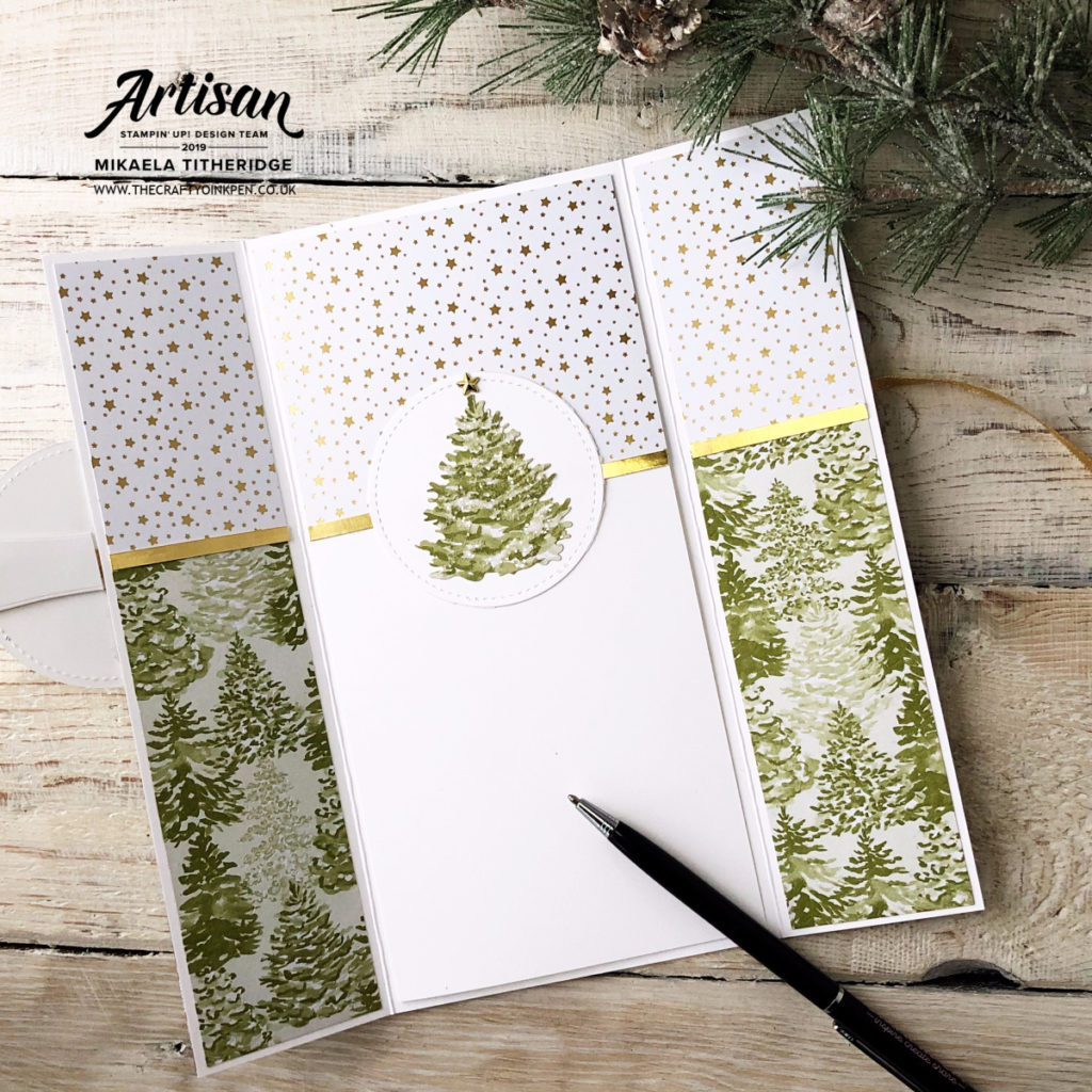 Most Wonderful Time Gatefold Keepsake Card by Artisan Design Team Member 2019, Mikaela Titheridge, UK Independent Stampin' Up! Demonstrator, The Crafty oINK Pen. Supplies available through my online store 24/7
