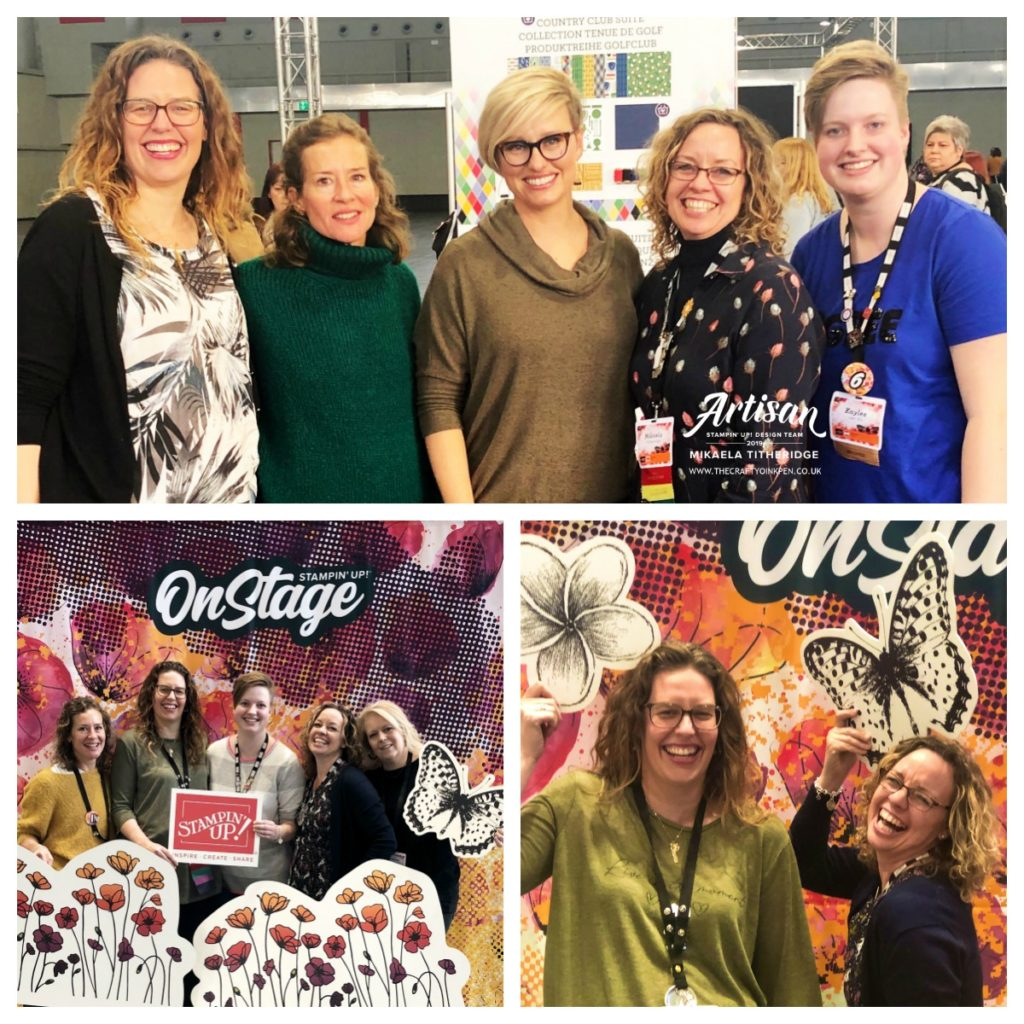 Artisan Design Team 2019 at OnStage Live 2019, Dortmund, Germany by Artisan Design Team Member 2019, Mikaela Titheridge, UK Independent Stampin' Up! Demonstrator, The Crafty oINK Pen. Supplies available through my online store 24/7