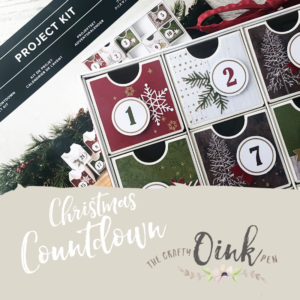 Christmas Countdown available through Artisan Design Team Member 2019, Mikaela Titheridge, UK Independent Stampin' Up! Demonstrator, The Crafty oINK Pen. Supplies available through my online store 24/7