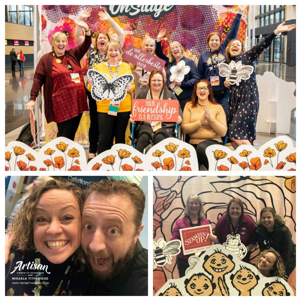 OnStage Live Dortmund 2019 and the Stampin' STYlettes Team with Dirk the photographer by Artisan Design Team Member 2019, Mikaela Titheridge, UK Independent Stampin' Up! Demonstrator, The Crafty oINK Pen. Supplies available through my online store 24/7