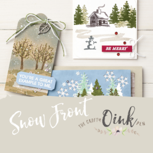Snow Front Papercraft Class by Artisan Design Team Member 2019, Mikaela Titheridge, UK Independent Stampin' Up! Demonstrator, The Crafty oINK Pen. Supplies available through my online store 24/7