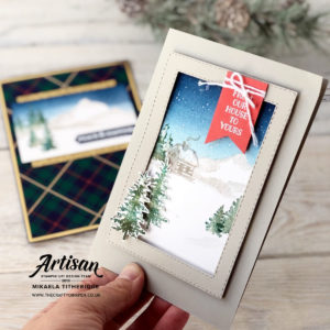 Snow Front Cards for my Facebook Live by Artisan Design Team Member 2019, Mikaela Titheridge, UK Independent Stampin' Up! Demonstrator, The Crafty oINK Pen. Supplies available through my online store 24/7
