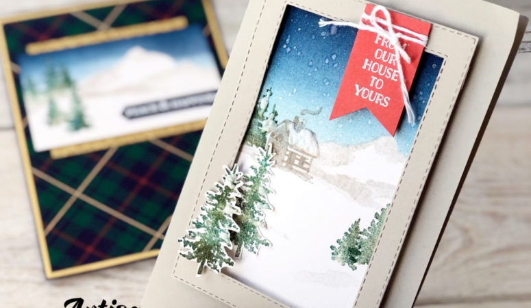 Snow Front wintery scene Christmas Card