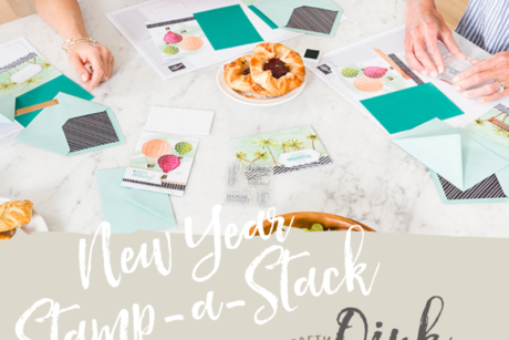 New Year Stamp-a-Stack of Greetings Cards at Kettering Park Hotel & Spa by Artisan Design Team Member 2019, Mikaela Titheridge, UK Independent Stampin' Up! Demonstrator, The Crafty oINK Pen. Supplies available through my online store 24/7