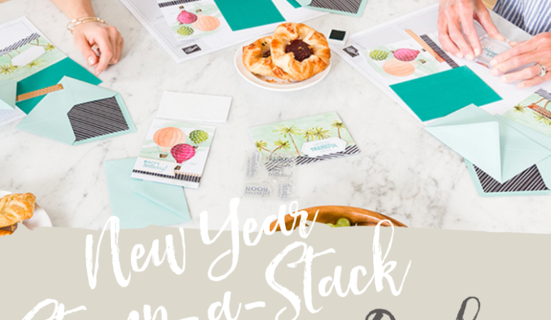 All Day Crafting at my New Year Stamp-a-Stack