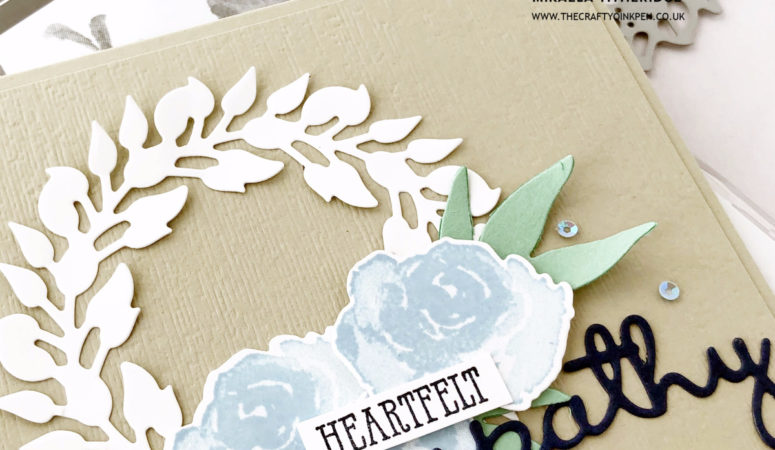 First Frost for a Heartfelt Sympathy Wreath Card