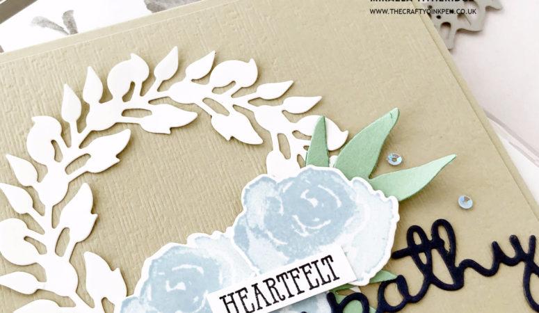 First Frost for a Heartfelt Sympathy Wreath Card