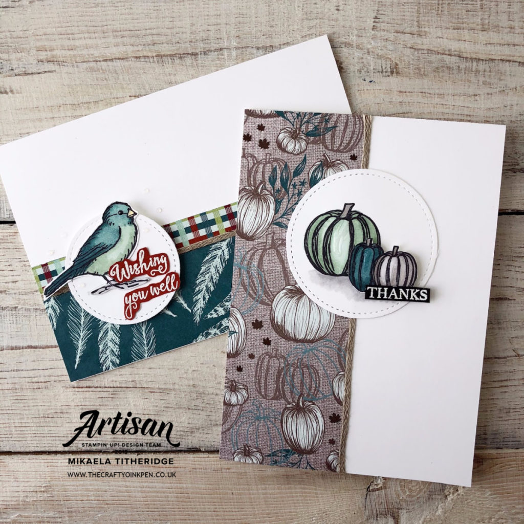 You Can Create It with this Quarter's Paper Crafting Kit. Gather Together with Free as a Bird. Available to purchase in the UK from Artisan Design Team Member 2019, Mikaela Titheridge, UK Independent Stampin' Up! Demonstrator, The Crafty oINK Pen. Supplies available through my online store 24/7