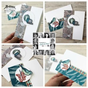Buy your Quarterly Stampin' Up! Paper Craft Kit from me and get making with Gather Together, Brightly Gleaming and Feels Like Frost. Artisan Design Team Member 2019, Mikaela Titheridge, UK Independent Stampin' Up! Demonstrator, The Crafty oINK Pen. Supplies available through my online store 24/7