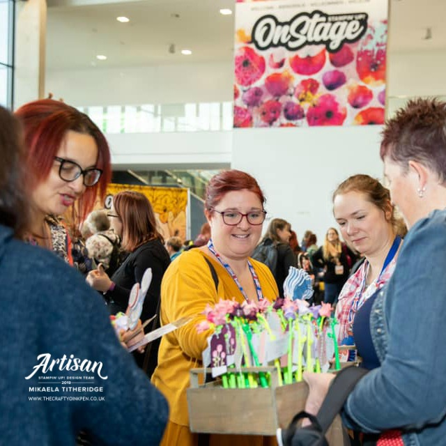 Onstage Live Dortmund, Germany and my Downline Team Swapping. Artisan Design Team Member 2019, Mikaela Titheridge, UK Independent Stampin' Up! Demonstrator, The Crafty oINK Pen. Supplies available through my online store 24/7
