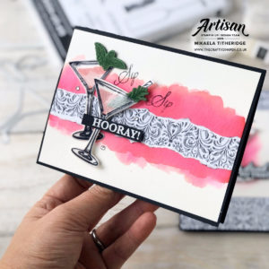 Sip Sip Hooray Girl Power Celebration Card by Artisan Design Team Member 2019, Mikaela Titheridge, UK Independent Stampin' Up! Demonstrator, The Crafty oINK Pen. Supplies available through my online store 24/7