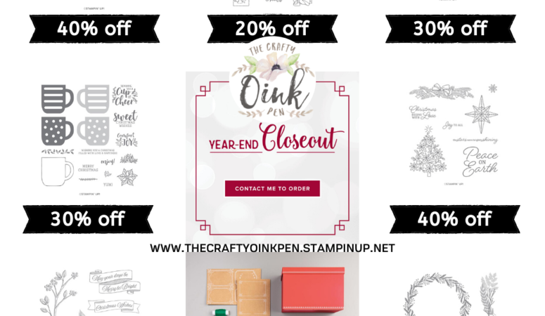 Year End Closeout and Carry Over Lists of Stampin' Up! Products