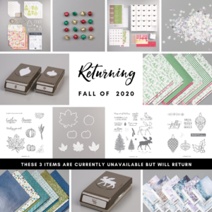 Autumn/Winter 2019 Carry over list to Fall 2020 Artisan Design Team Member 2019, Mikaela Titheridge, UK Independent Stampin' Up! Demonstrator, The Crafty oINK Pen. Supplies available through my online store 24/7